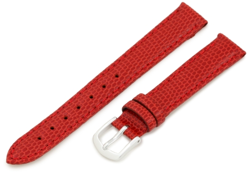 Hadley-Roma 13mm 'Women's' Leather Watch Strap, Color:red (Model: LSL725RQ 130) -