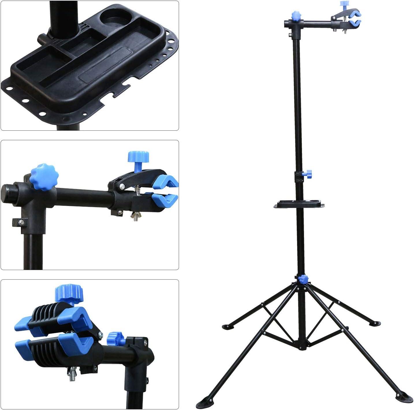 Hengda Bike Repair Stand Adjustable Bicycle Repair Workstand Portable up to 30KG,for Bike Maintenance,Black Lightweight