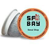 SF Bay Coffee Donut Shop 80 Ct Light Roast Compostable Coffee Pods, K Cup Compatible including Keurig 2.0