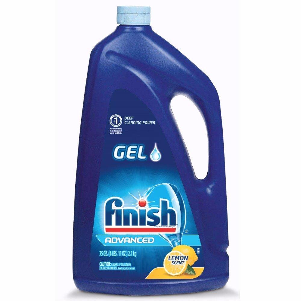 Finish Gel Automatic Dishwasher Detergent, Lemon Scent 75 oz