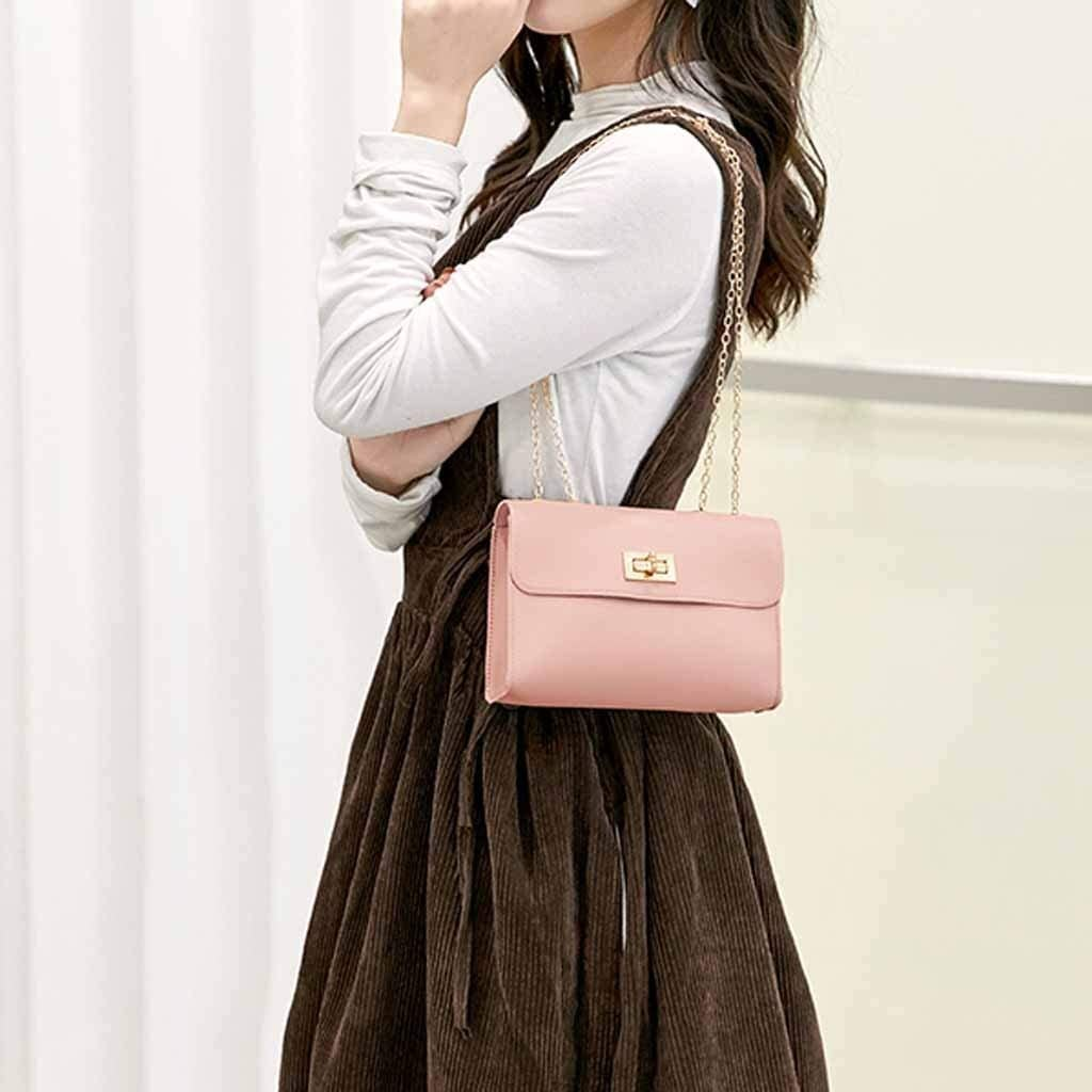 Gergeos Women PU Leather Mini Messenger Bag Handbags Crossbody Bag Purse