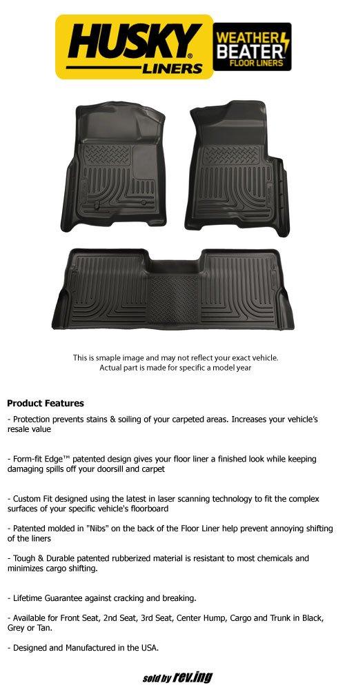 2007 – 2013 Chevrolet Suburban 2500 – ハスキーLiners – WeatherBeater – 床ライナー – 前面と背面B00KPR97AW--