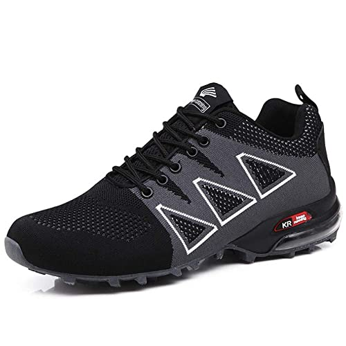 Mens Hiking Shoes Non Slip Outdoor Lace up Climbing Trail Running Shoes