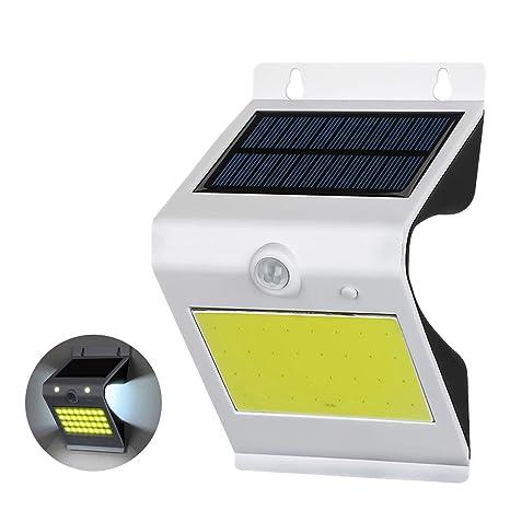 ALLOMN Solares Poder Luz de la calle al aire libre, impermeable COB 38 LED Luz