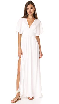 87c54b7426ea Amazon.com  Ella moss Women s Piana V Neck Maxi Dress  Clothing