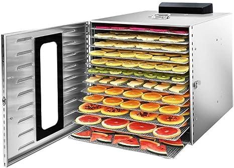 Opinión sobre L.TSA Deshidratador de Alimentos Máquina deshidratadora de Alimentos - Secadora de Alimentos Bandeja de Acero Inoxidable de 12 Capas de Grado Comercial con Alta Capacidad Temporización Intel