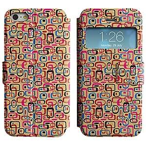 LEOCASE forma linda Funda Carcasa Cuero Tapa Case Para Apple iPhone 5 / 5S No.1005812