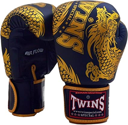 Twins special Boxing Gloves Air Flow White-Black Sparring Training BGVLA-2