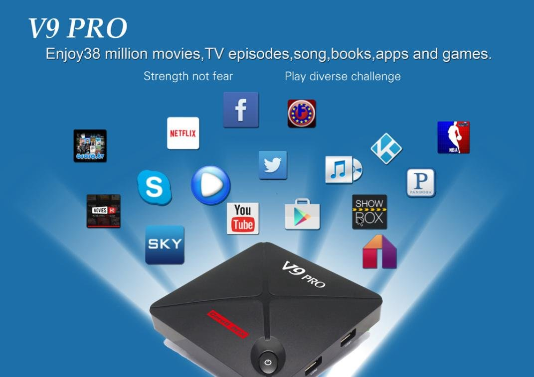 Ikevan Android 6.0 4K FULL HD Player Quad Core ARM Coretex-A53 2G/8G Bluetooth WIFI Smart TV Box US