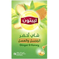 Lipton Green Tea with Ginger and Honey, 25 Bags - Pack of 1
