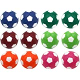 Sunfung Table Soccer Foosballs Replacement Balls Mini Multicolor 36mm Official Foosball 12 Pack