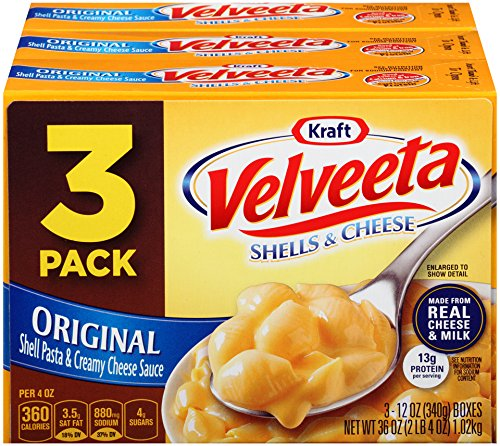 Velveeta Shells and Cheese Dinner, Original, 12 oz, 3 count
