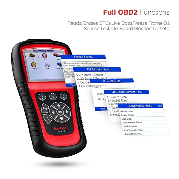 Autel Scanner MD802 Maxidiag Elite is one of the best transmission code reader on the market.