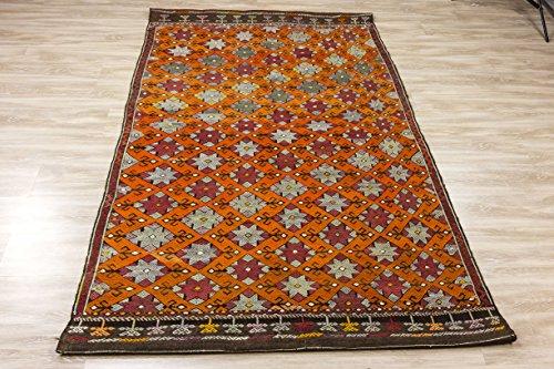 Vintage Kilim Rug 4.49x7.61 ft (137x232 cm)
