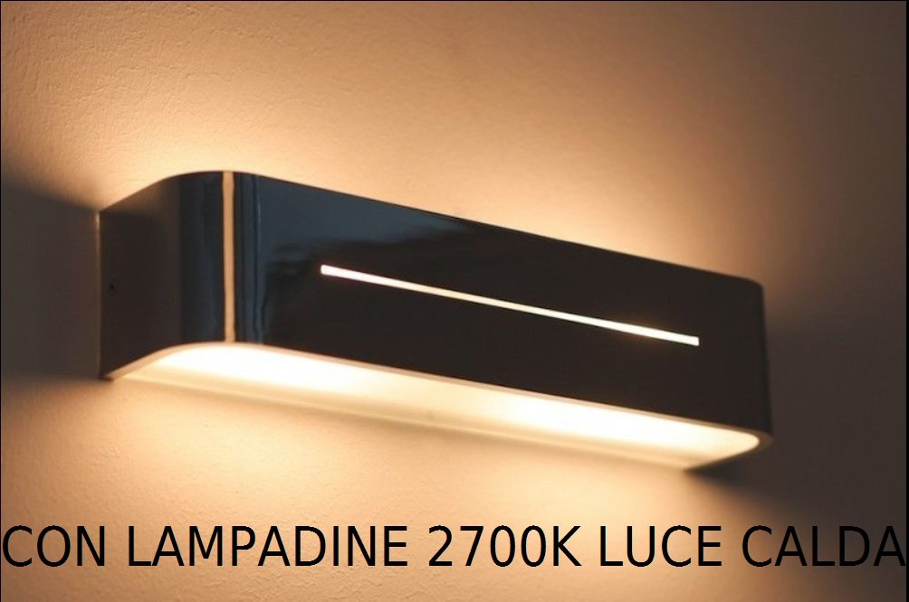 Applique da interno lampada da parete design moderno bianco cm