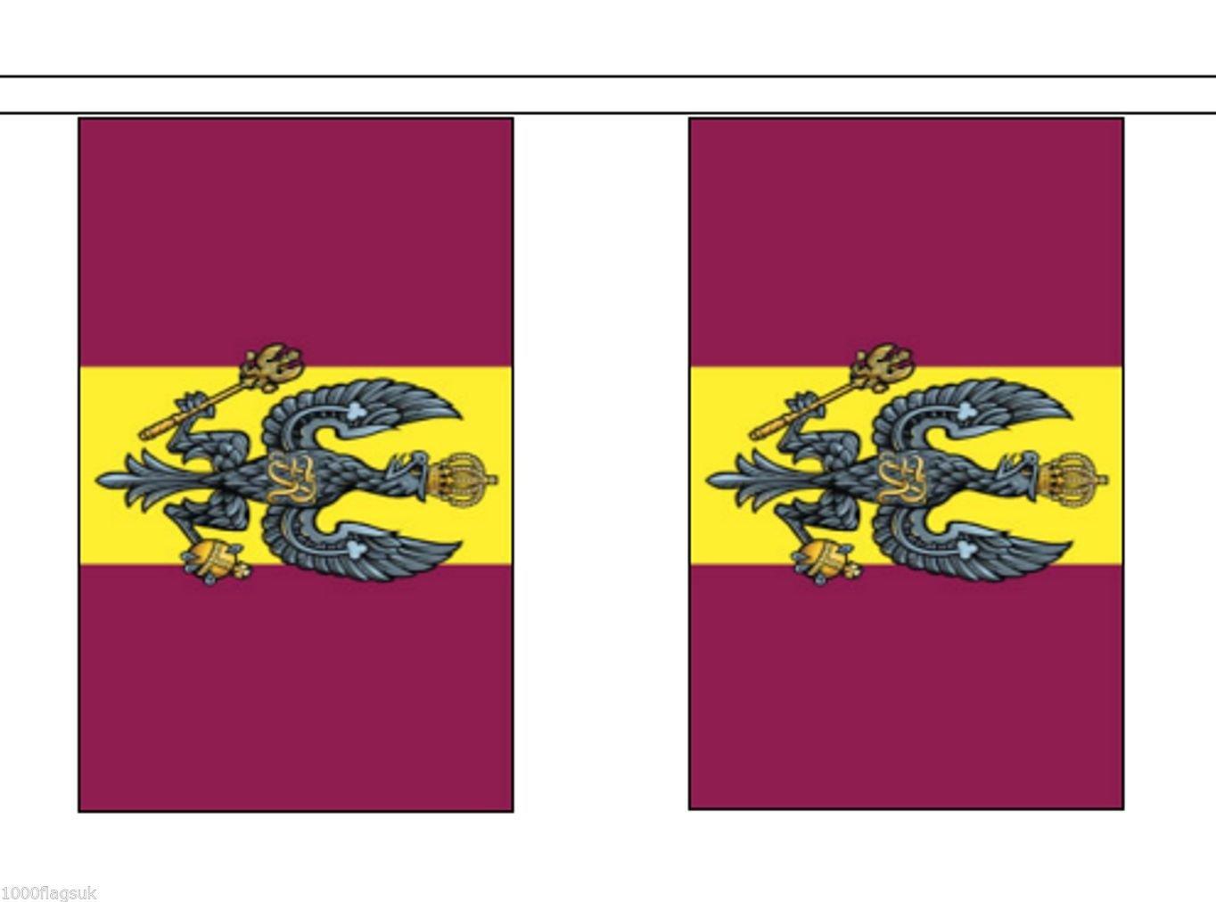 1000 Flags Flags Flags Ejército británico Royal húsares del Rey bandera de poliéster banderines 5 m (16 ') banderines con 14 banderas da9b5a