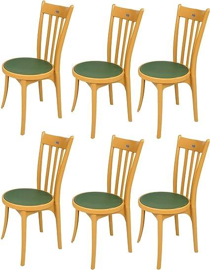 Mavi Unique Green Garden Chair Set Of 6 Dec 117 Amazon In