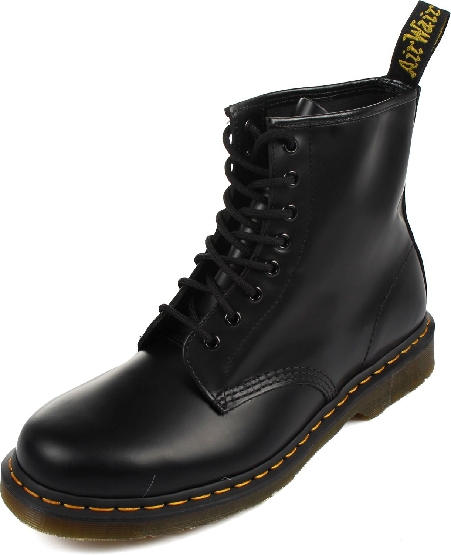 Dr. Martens 1460 Originals 8 Eye Lace Up Boot, Black Smooth Leather, 10UK / 11 US Mens / 12 US Womens, 45 EU