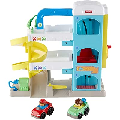 Fisher-Price Little People the Helpful Neighbor's Garage: Toys & Games
