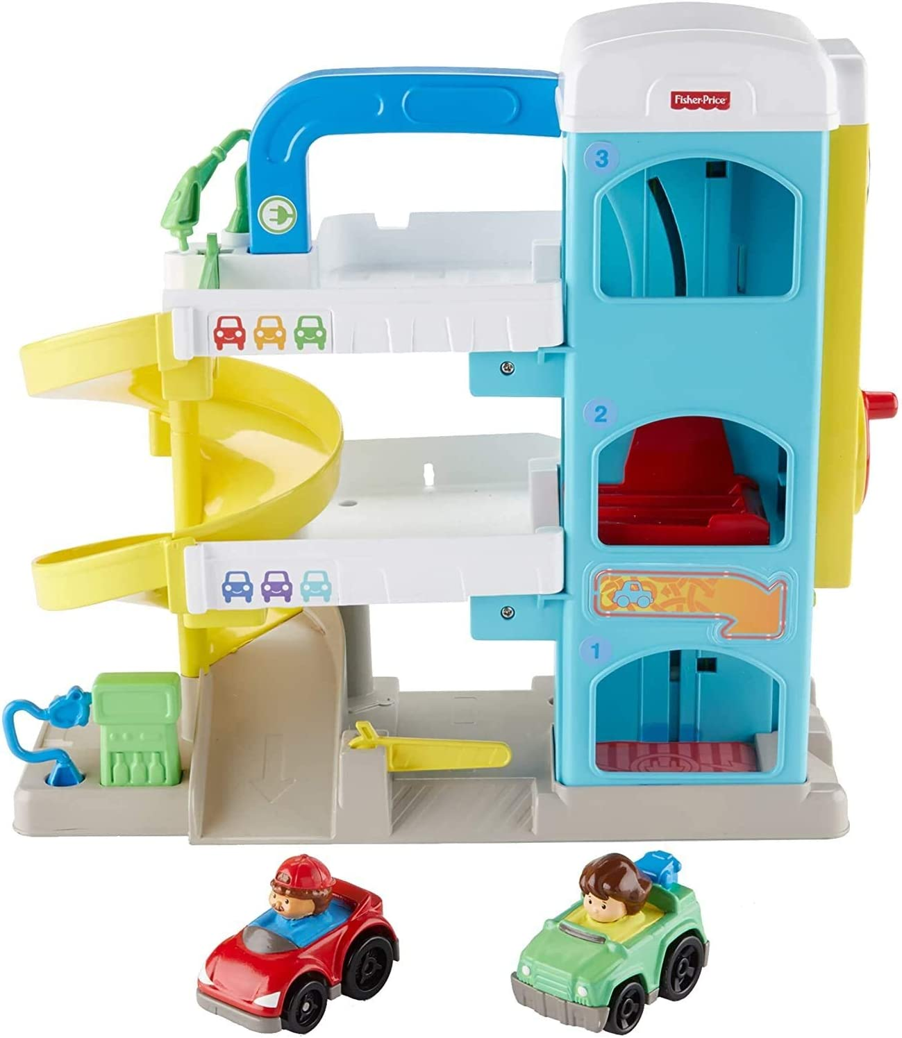 Amazon Com Fisher Price Little People The Helpful Neighbor S Garage Toys Games