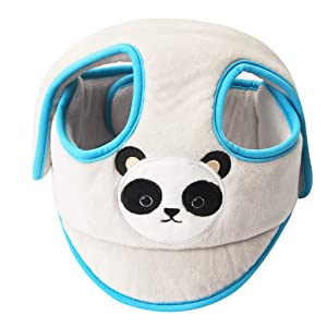 KAKIBLIN Baby Safety Helmet, Infant Head Protector Breathable Headguard Adjustable Safety Protective Cap for 9 to 36 Months Toddlers Learn to Walk, Grey