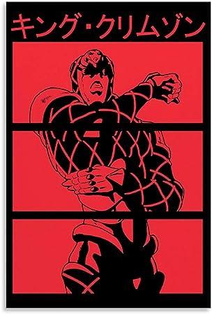 JINYOU King Crimson JoJo Shirt Poster Pintura Decorativa Lienzo Arte Pared Sala Póster Dormitorio Pinturas 40x60 cm