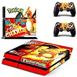 Lucky Store New Skins Sticker Pokemon Chariz Decals for Sony PlayStation Console and 2 Controller Skins PS4 Skins Covers