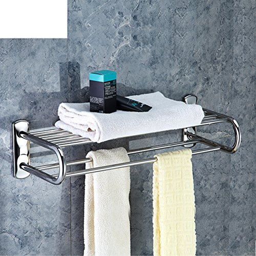 Stainless steel Towel rack/Towel shelf /Two-tier bathroom accessories-Matte 80%OFF