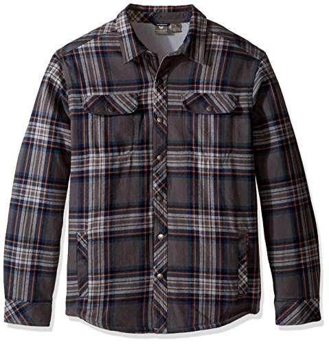 Casual Jacket Sierra (White Sierra Baz Az Plaid Shirt Jacket, Asphalt, Xx-Large)