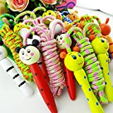 Creative Cute Skipping Rope Children's Toy Wooden Handle Jumping Game Fitness Build Random Handle Style Award Christmas ¡¡Halloween Gift¡¡Color rope ¡¡