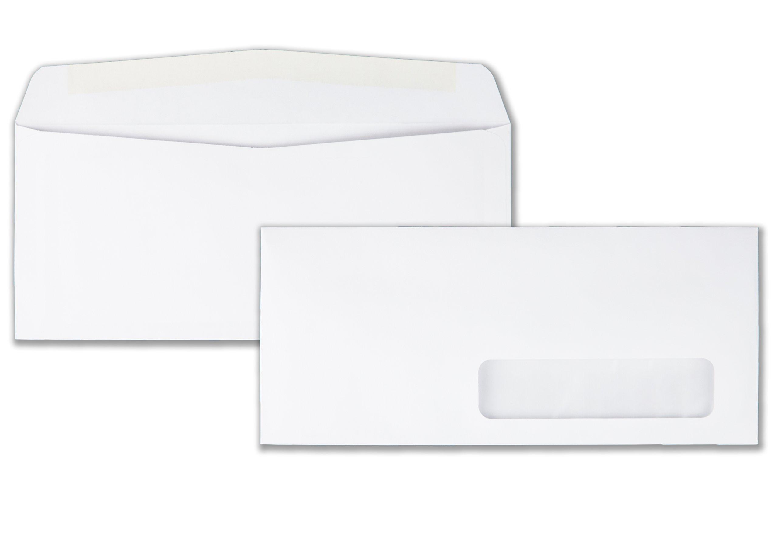 Quality Park 21332 Quality Park Right-Window Envelopes, 10, 24lb, White, 500/Box