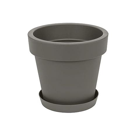 50 cm diam Pot de fleur avec soucoupe en plastique Lofly blanc classique