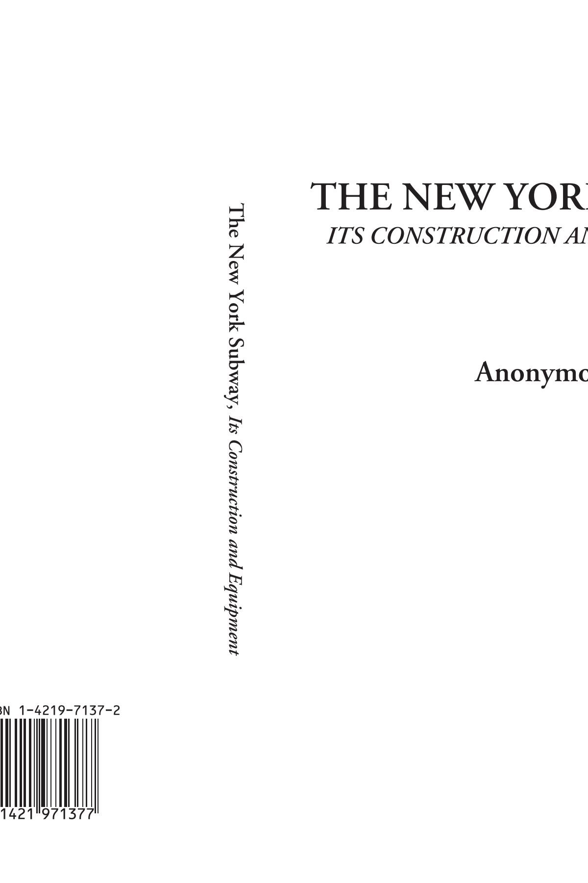 Download The New York Subway (Its Construction and Equipment) pdf