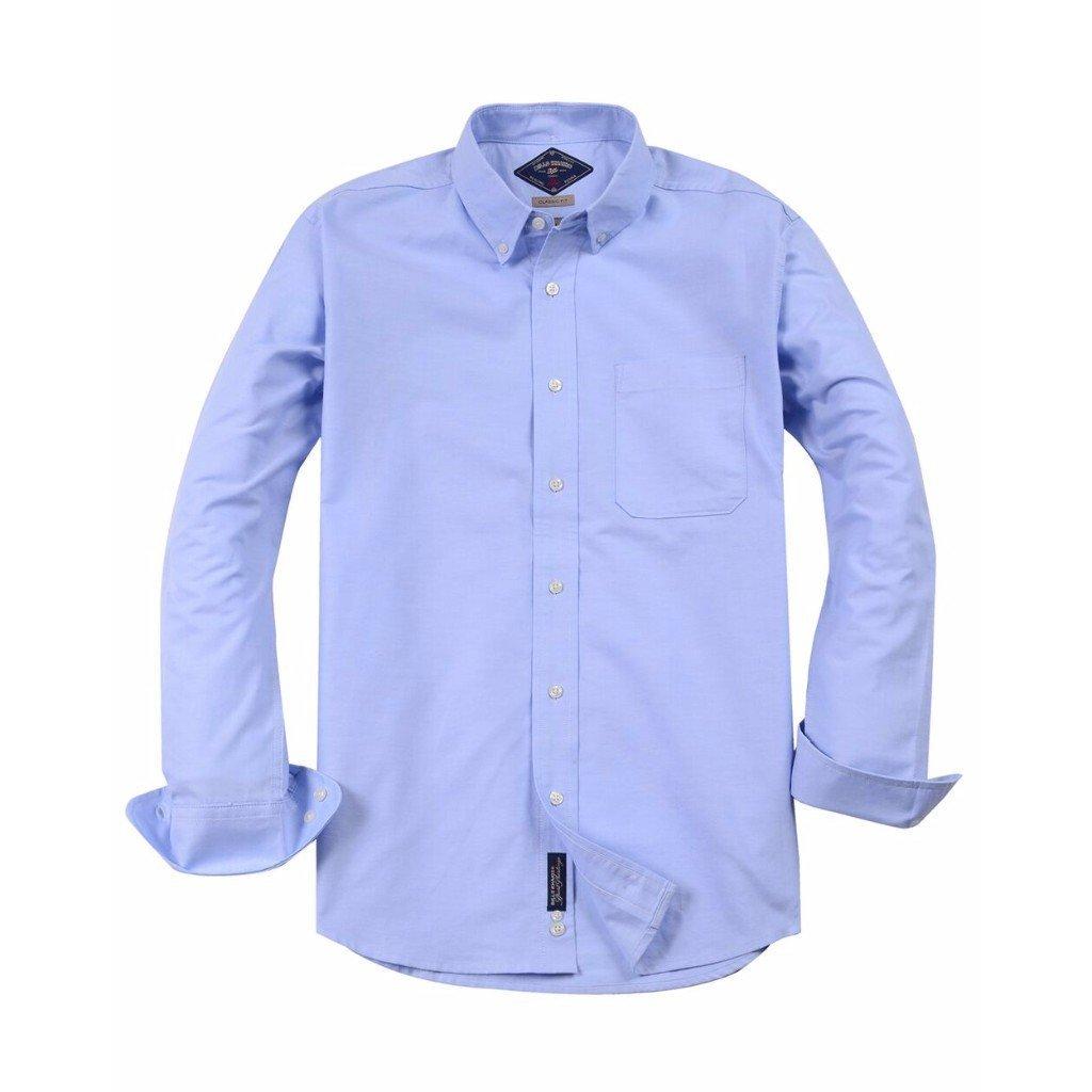 Bills Khakis Mens Classic Oxford Light Blue Dress Shirt At Amazon