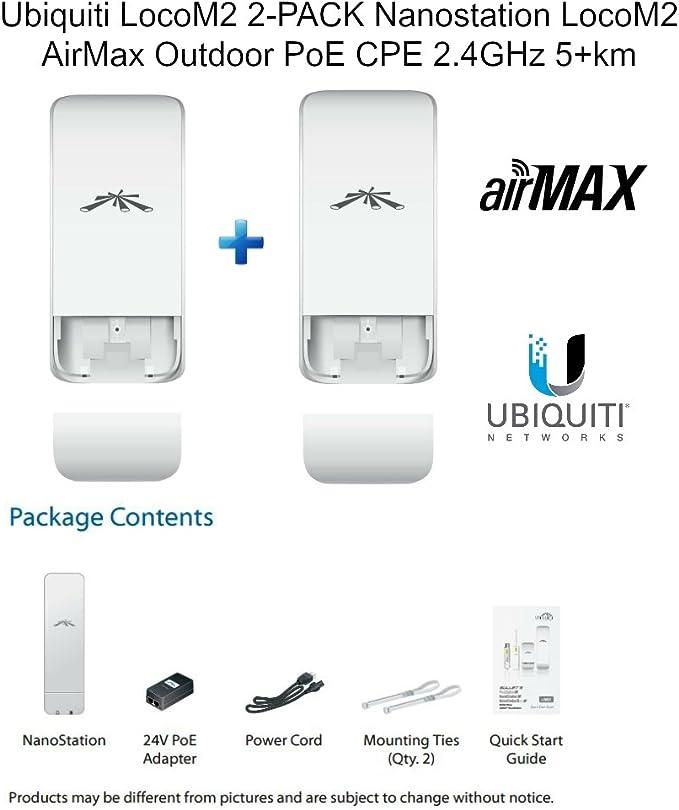 Ubiquiti NanoStation Loco M2 2.4Ghz Indoor//Outdoor airMax CPE