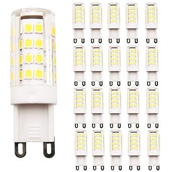 20 bombillas LED G9, sin parpadeo, (2,5 W, equivalente a