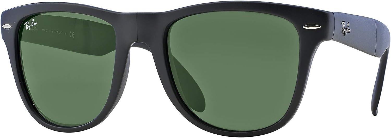 Ray-Ban RB4105 - Gafas de sol unisex (marco negro mate/lente verde cristalina 601S, 50): Amazon.es: Ropa y accesorios