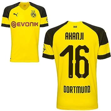 size 40 59bab f3a0c Puma BVB Borussia Dortmund Fußball Home Trikot Heimtrikot 2018 2019 Herren  Kinder mit Spieler Name