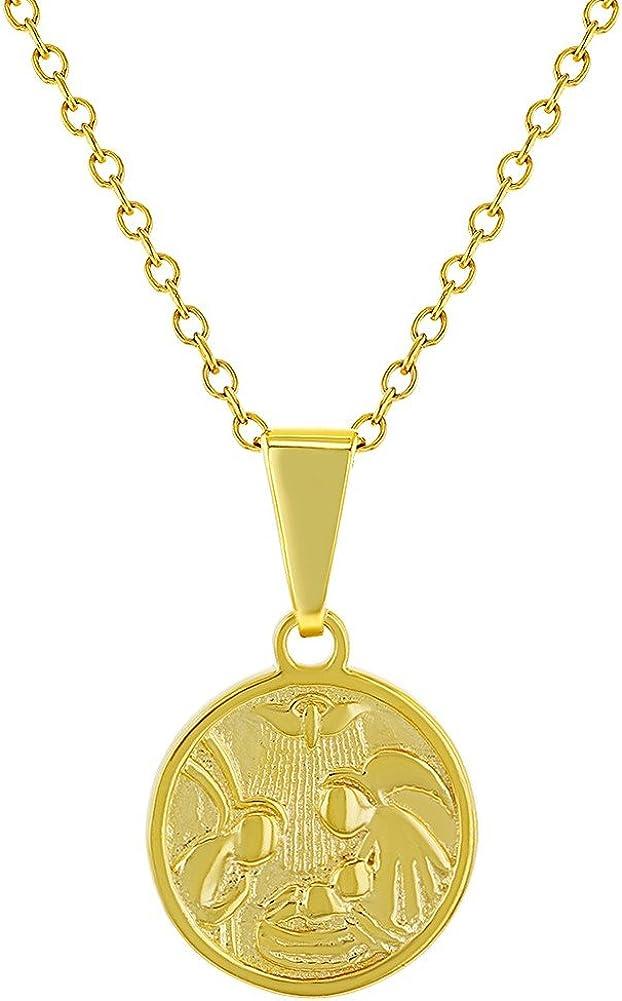 Colgante de ángel de la guarda para niños de plata de ley 925 con medalla pequeña de protección religiosa de 40 cm