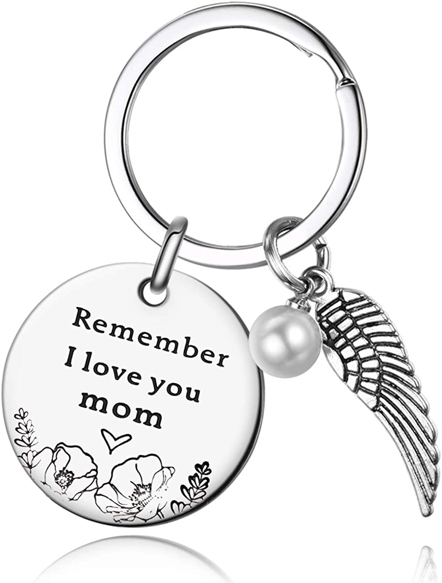 Mom Gifts from Daughter Son - Remember I Love You Mom Keychain for Women Birthday Christmas Mothers Day Jewelry Gifts