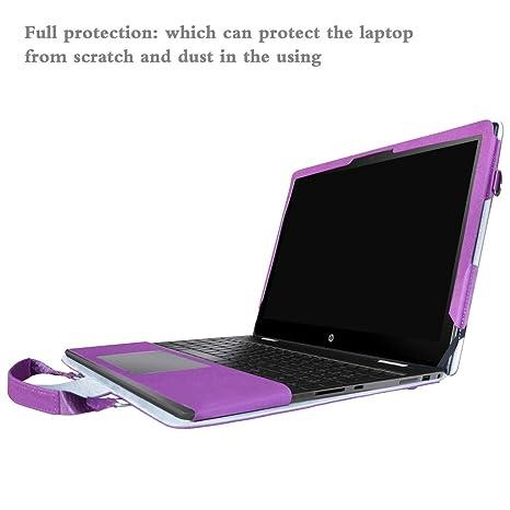 Envy x360 15 Funda,2 in 1 Diseñado Especialmente La Funda Protectora de Cuero de PU + la Bolsa portátil para 15.6