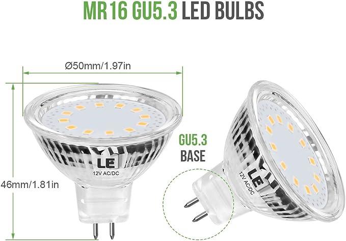 10 x Quality LED Wide Beam Downlight Globes Bulbs 4W 12V MR16 Cool daylight