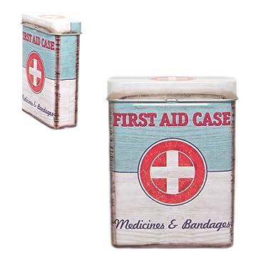Metall-Dose, vintage First aid case - Erste-Hilfe-Kit - Für ...