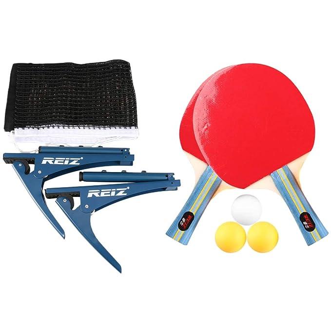 Walmeck- Juego de Paleta de Ping Pong con Red de Tenis de Mesa ...