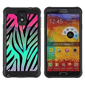Suave TPU GEL Carcasa Funda Silicona Blando Estuche Caso de protección (para) Samsung Note 3 / CECELL Phone case / / Heart Teal Pink Purple Pattern /