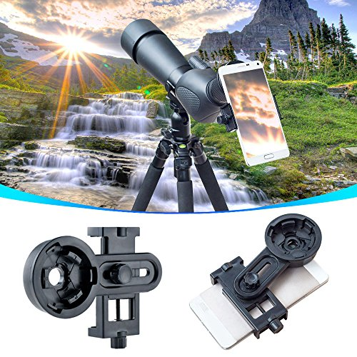 AYAMAYA Universal Smartphone Adapter Mount Telescope Connection Stand Holder Compatible with Binocular Monocular Spotting Scope Telescope and Microscope for Eyepiece Diameter 26mm to 46mm by AYAMAYA