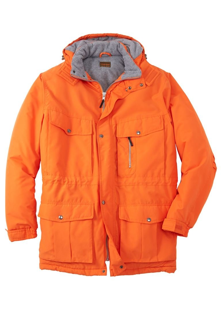 Boulder Creek Men's Big & Tall Expedition Parka, Bright Orange Big-2Xl by Boulder Creek