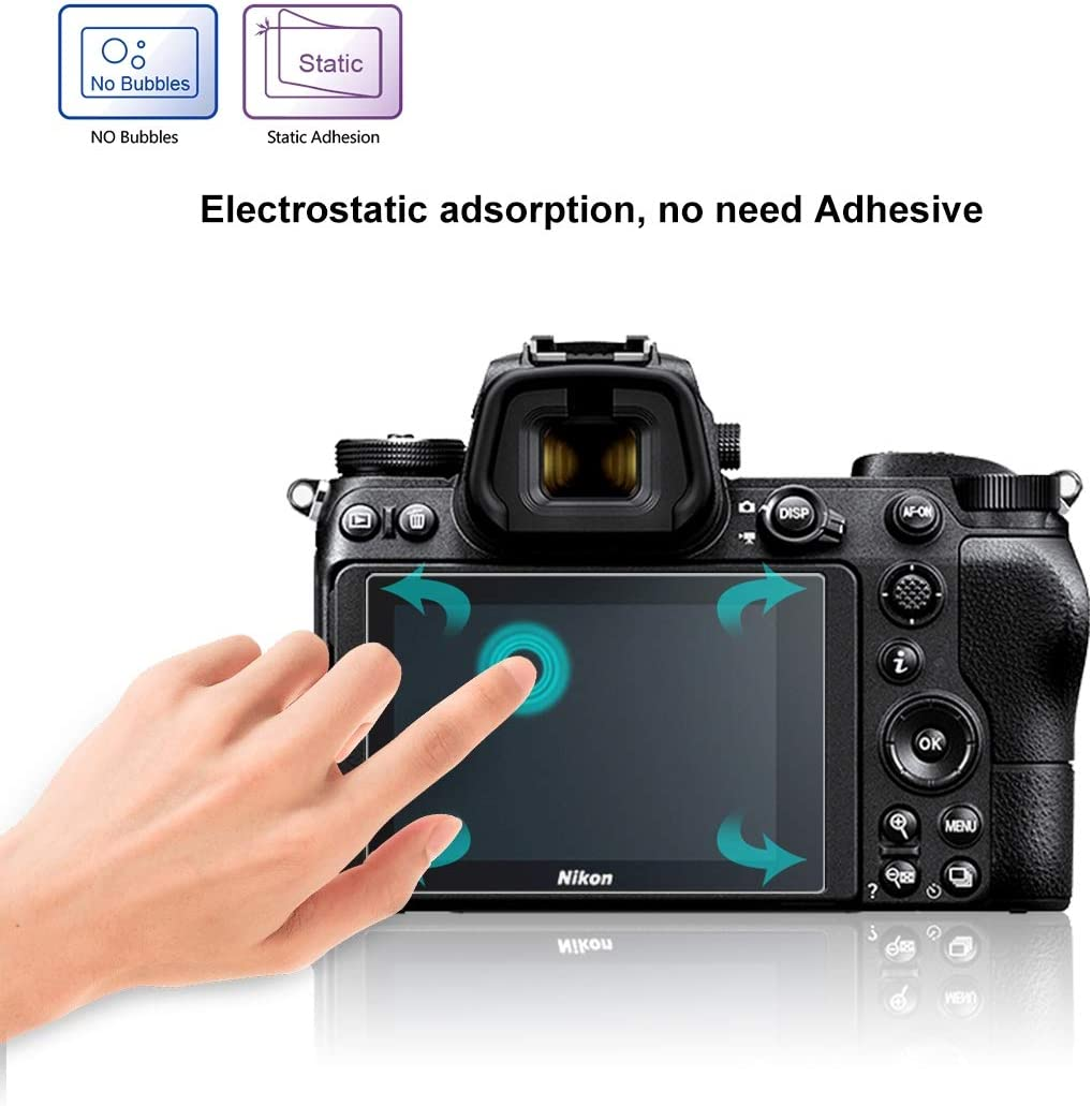 Z7 Durable 2.5D 9H Tempered Glass Film for Nikon Z6