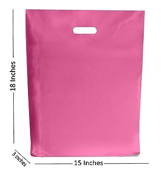 50 GRANDE ROSA INTENSO Plástico Bolsas ~ boutique regalo ...