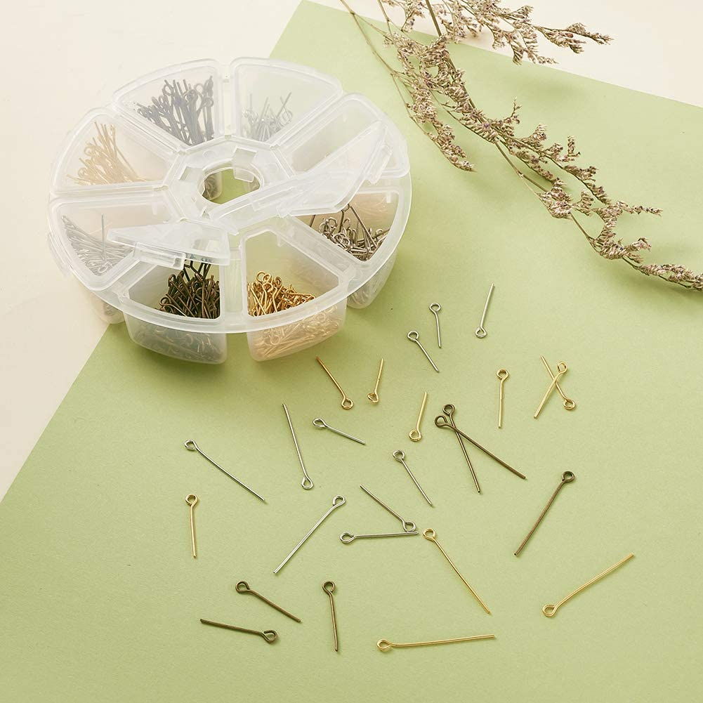 Pandahall 200pcs Iron Earring Hook Fish Ear Wires with 200pcs Clear Ear Back for Earring Jewelry Making Golden /& Silver